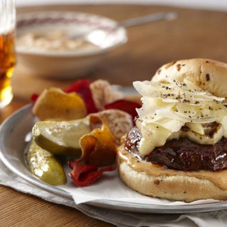 Image of Barbequed Portobello Cheeseburger