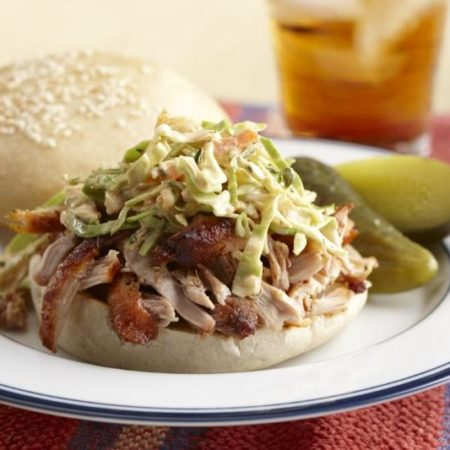 Image of Grilled BBQ Chicken Sandwich With Slaw